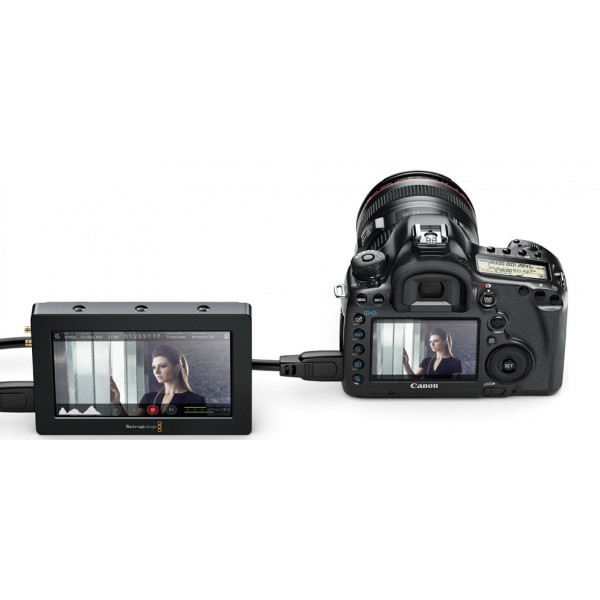 Blackmagic video assist for cinema camera