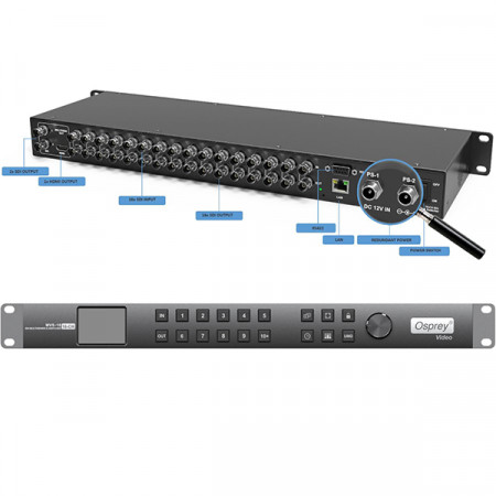 Osprey MVS-16 MultiViewer / Matrix Switcher