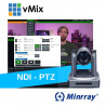 Bundle NDI-PTZ: Minrray UV510 + vMix 4k