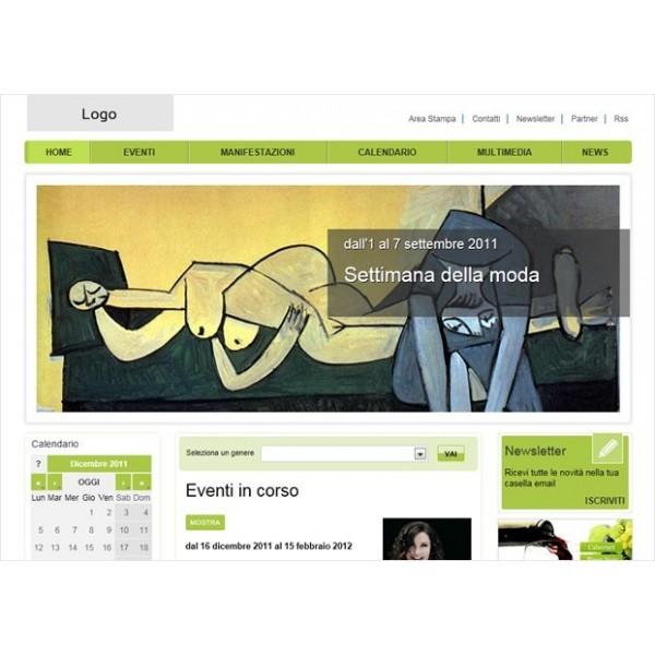 Calendario Per Sito Web.Site Web Per Eventi