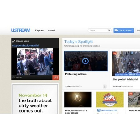 Soluzione video encoding e Ustream