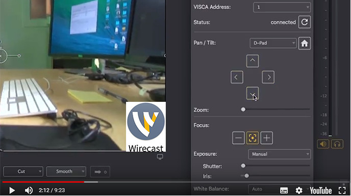 How to Control a PTZ Camera in Wirecast